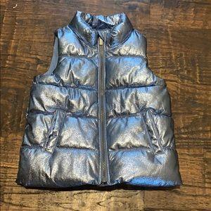 Metallic puffer jacket toddlers